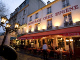 Dining Alfresco at Dusk at a Paris Restaurant Photographic Print by Richard Nowitz