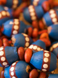 Painted Aboriginal Beads in Central Australia Photographic Print by Brooke Whatnall
