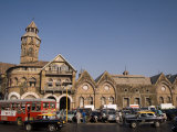 Traffic around the Crawford Market or Mahatma Jyotirao Phule Market Photographic Print by Abraham Nowitz