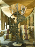 Spiral Staircase and Barrels at a Winery in the Casablanca Valley Photographic Print by Richard Nowitz