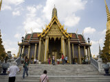 Tourists at the Grand Palace, Bangkok Photographic Print by Rebecca Hale
