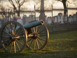 Cannon Outside the Fence at Gettysburg National Cemetery Photographic Print by Michael Melford