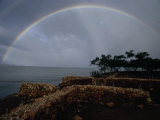 Rainbow Spans La Isabela, Columbus's First Permanent Settlement in Hispaniola Photographic Print by Jim Sugar