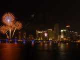 4th of July Fireworks over Downtown Miami and Biscayne Bay Photographic Print by Raul Touzon