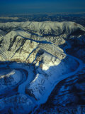 Aerial View of Snowcapped Mountains Photographic Print by Nick Norman