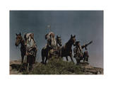 Three American Indians on the Crow Reservation Photographic Print by Edwin L. Wisherd