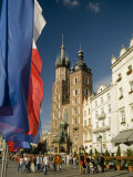 St. Mary's Church in the Rynek Glowny or Market Square Photographic Print by Abraham Nowitz