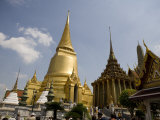 Tourists around the Gilded Spires of the Grand Palace, Bangkok Photographic Print by Rebecca Hale
