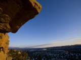 Cliff at Bandelier National Monument Is Seen at Sunset Photographic Print by Ralph Lee Hopkins