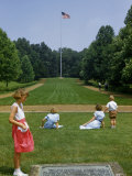 Tourists Overlook Grassy Mall Leading to Nancy Hanks Lincoln's Grave Photographic Print by William Gray