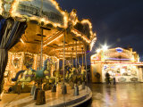 Carousel at the Eiffel Tower Photographic Print by Richard Nowitz
