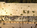 Jewish Men and Women Pray at the Western Wall at Night Photographic Print by Richard Nowitz