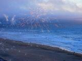 Fireworks over Ocean Beach in San Francisco Photographic Print by Raymond Gehman