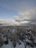 Clearing Winter Storm Swirls over Mono Lake Photographic Print by Gordon Wiltsie