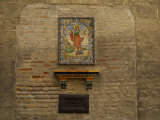 Wall Tile Painting of a Saint Photographic Print by Raul Touzon