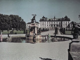 People Visit the Drottningholm Palace Photographic Print by Gustav Heurlin