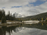 Early Snowfall Dusts Peaks Above Cascade Ponds in Banff National Park Photographic Print by Gordon Wiltsie