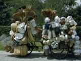Chinese Peddler Carries His Goods Piled High on a Trishaw Photographic Print by Joseph Baylor Roberts