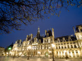 Night View of the Hotel De Ville, Paris Photographic Print by Richard Nowitz