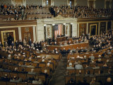 Winston Churchill Addresses U.S. Congress in House Chamber Photographic Print by Jack Fletcher