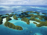 Aerial View of Palau's Rock Islands Photographic Print by Stephen Alvarez