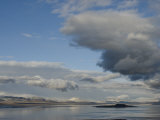 Clearing Winter Storm Swirls over Mono Lake, a Saline Photographic Print by Gordon Wiltsie