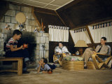 American Military Family Relaxes in Transformed Quonset Hut Photographic Print by Joseph Baylor Roberts