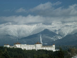 Cloud-Shrouded Mount Washington Frames Mount Washington Hotel Photographic Print by Robert Sisson