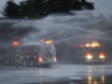 Water Jets Christen a New Fire Truck in New Jersey Photographic Print by Michael S. Yamashita