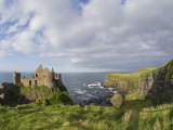 Ruins of 13th Century Medieval Dunluce Castle Photographic Print by Rich Reid
