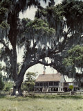 Two Men Stand on the Lawn of What Was Once a Sugar Plantation Photographic Print by Edwin L. Wisherd