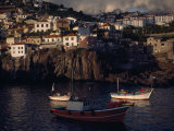 Steep Slopes Squeeze Houses in the Fishing Village of Camara De Lobos Photographic Print by Medford Taylor