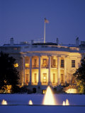 White House South Portico at Dusk Photographic Print by Richard Nowitz