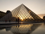 Glass Pyramid at the Louvre, at Dusk Photographic Print by Richard Nowitz