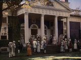 Young Reenacters Gather at the Entrance to Monticello Photographic Print by Charles Martin