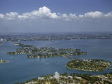 Aerial View of Biscayne Bay with Miami in the Background Photographic Print by Justin Locke