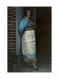 Portrait of a Yugoslavian Woman in Harem-Styled Dress of the Day Photographic Print by Hans Hildenbrand