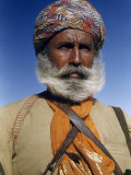 Portrait of a Poet of the Royal House of Jaisalmer Photographic Print by Volkmar K. Wentzel