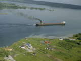 Cargo Ship Hauling Iron Ore Steams Down Saint Mary's River Photographic Print by Andrew Brown