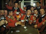Bandsmen Celebrate their Town's 1,700th Birthday Photographic Print by Volkmar K. Wentzel