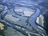 Confluence of Susquehanna and Chemung Rivers Forms Arrowhead of Land Photographic Print by Walter Meayers Edwards