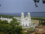 Unfinished Basilica of Revered Shrine Overlooks Saint Lawrence River Photographic Print by Andrew Brown