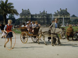 People of All Ages Relax and Play in Luxembourg Palace Gardens Photographic Print by Justin Locke