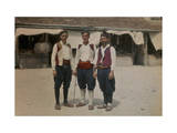 Peasant Men from the Breno Valley in the Marketplace Photographic Print by Hans Hildenbrand