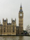 Big Ben Clock Tower and Parliament Seen from across the Thames River Fotografisk tryk af Mattias Klum
