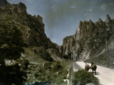 Road in the Pass of Pancorbo Surrounded by Cliffs Photographic Print by Gervais Courtellemont