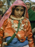 Portrait of Young Nepalese Bride Dressed in Silk and Jewels Photographic Print by Volkmar K. Wentzel