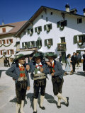 Men in Square Wear Traditional Clothing to Honor Patron Saint Photographic Print by Volkmar K. Wentzel