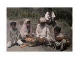 Menangkabau Children Bring their Chickens and Corn to the Market Photographic Print by W. Robert Moore