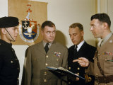 Cadet Reports to Three Instructors at the Royal Military College Photographic Print by Bates Littlehales